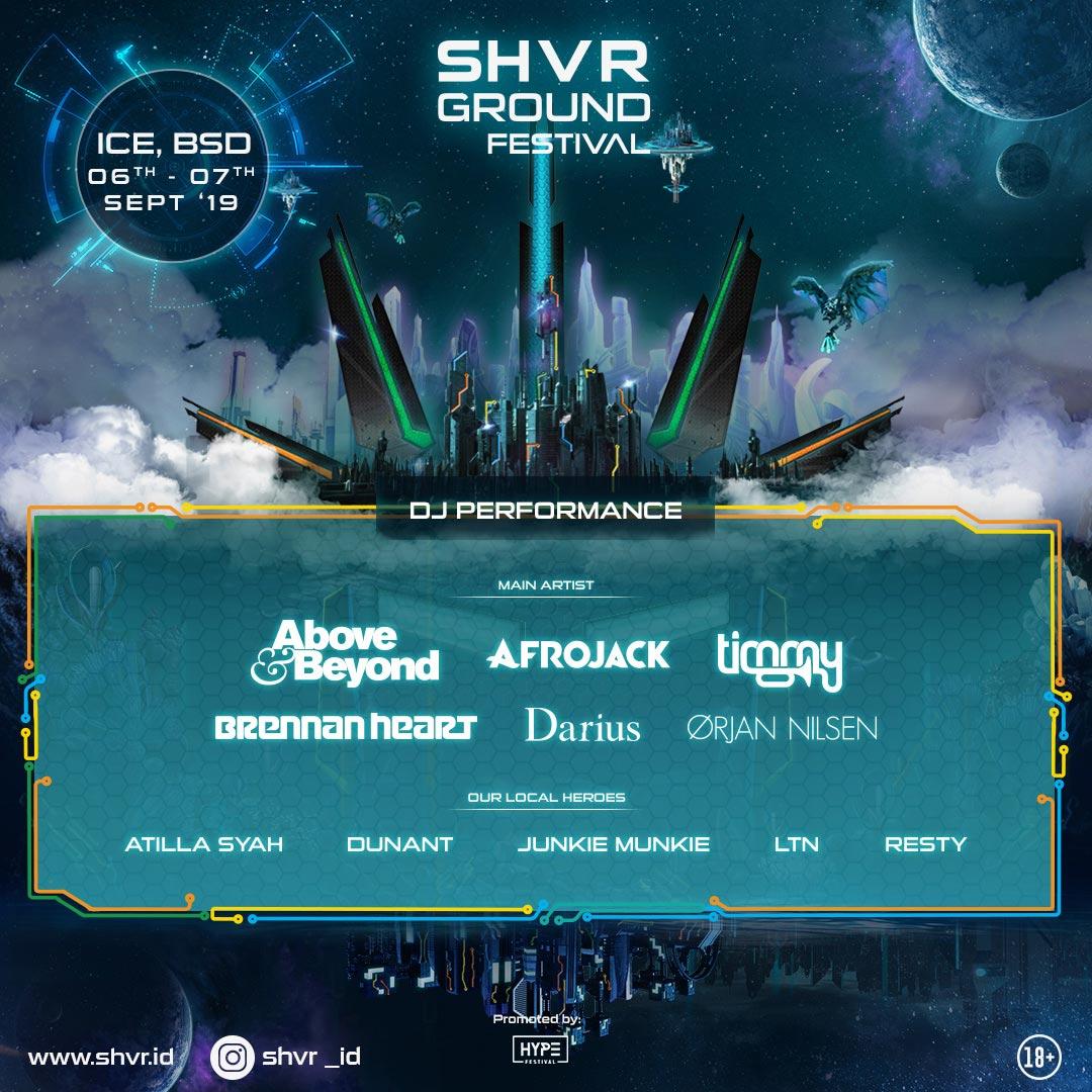 Ini Dia Deretan Line-up SHVR GROUND FESTIVAL 2019