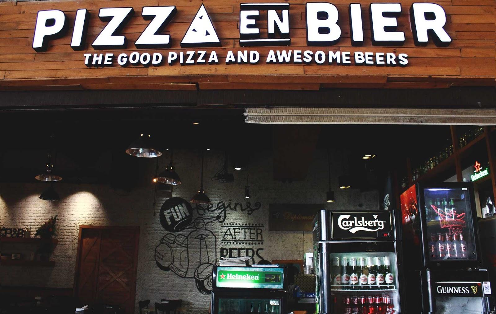Melepas Lapar dan Dahaga di Pizza en Bier
