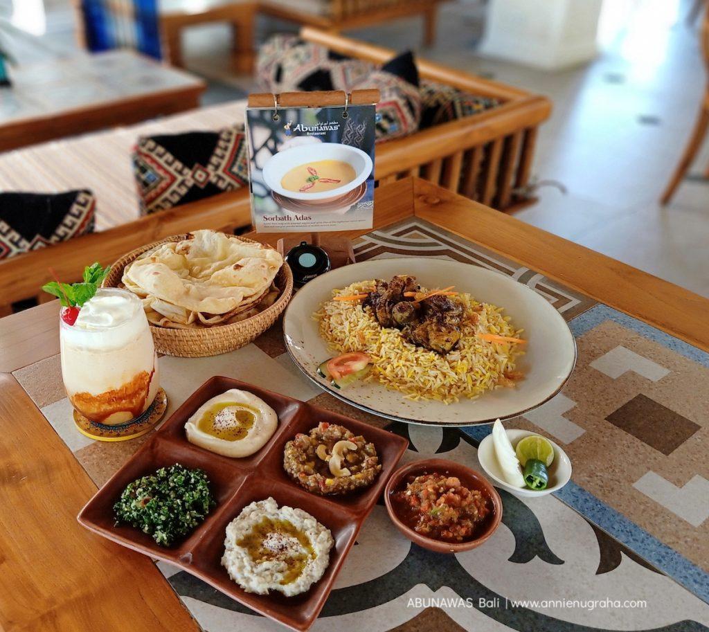 Menyantap Makanan Khas Timur Tengah di Abunawas Cafe Bali
